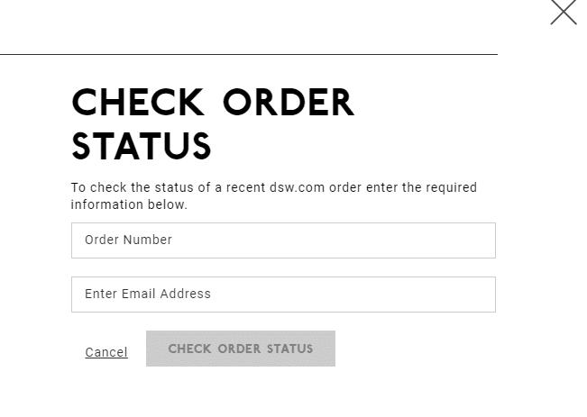 check DSW order status