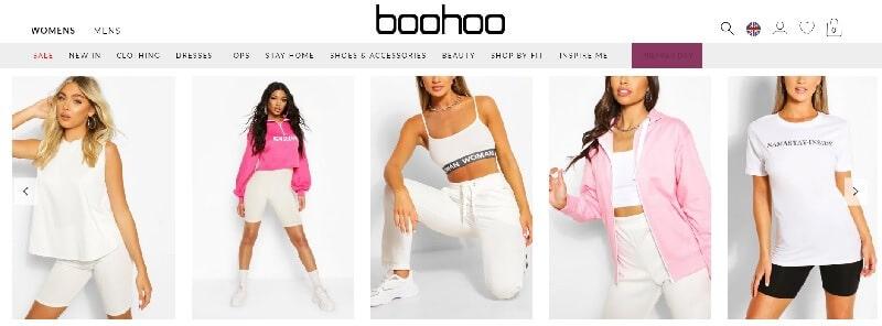 Boohoo Homepage