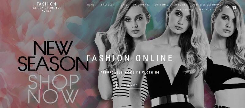 Fashion Nova Homepage