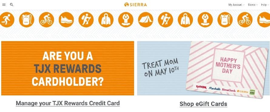 Sierra Homepage