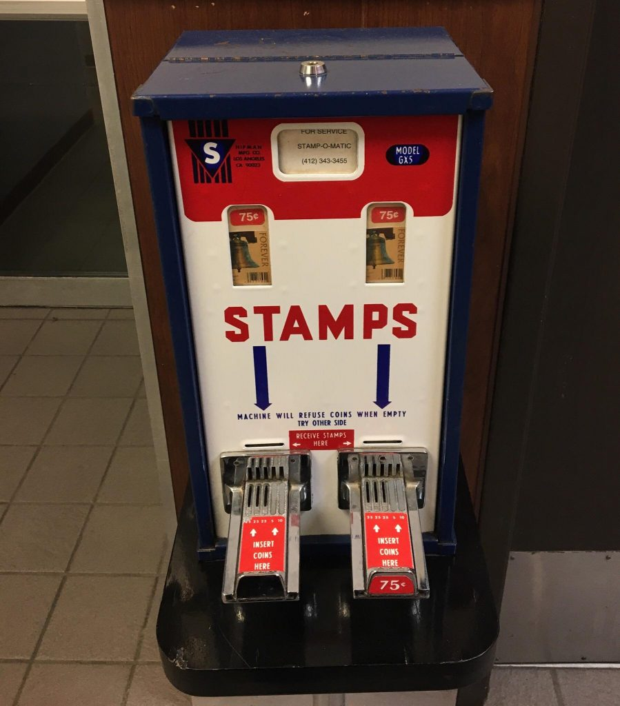 Stamp Vending Machines at Gas Stations