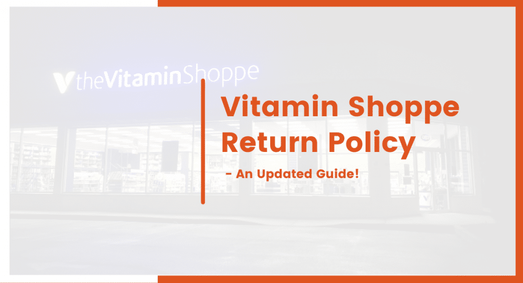 Vitamin shoppe return policy