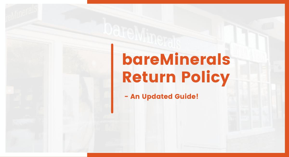 bareminerals return policy