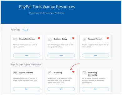 Invoicing in PayPal