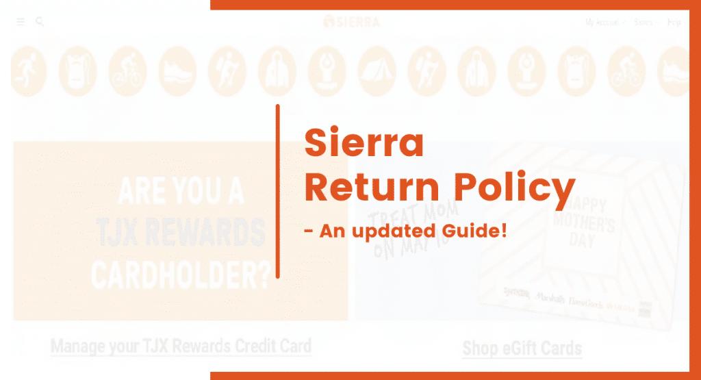 sierra return policy