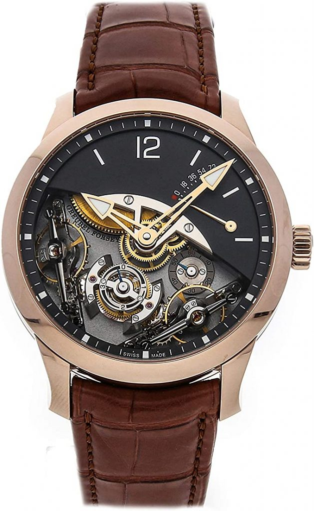 GreubelForsey Double Balancier Mechanical Black Dial Men's Watch