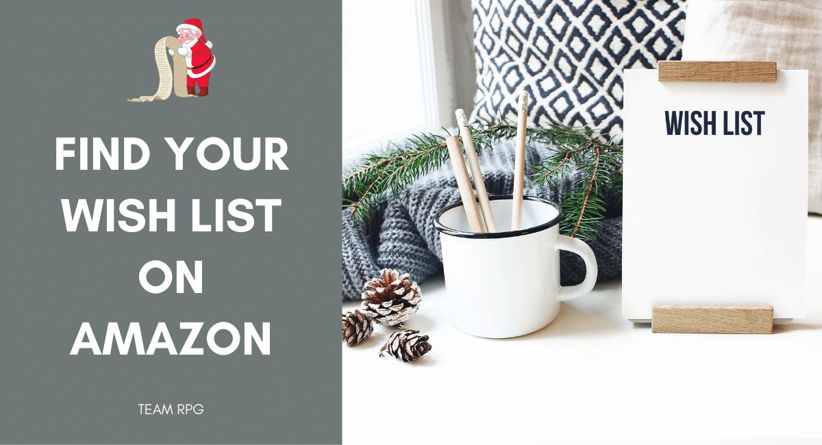 Find a wish list on amazon