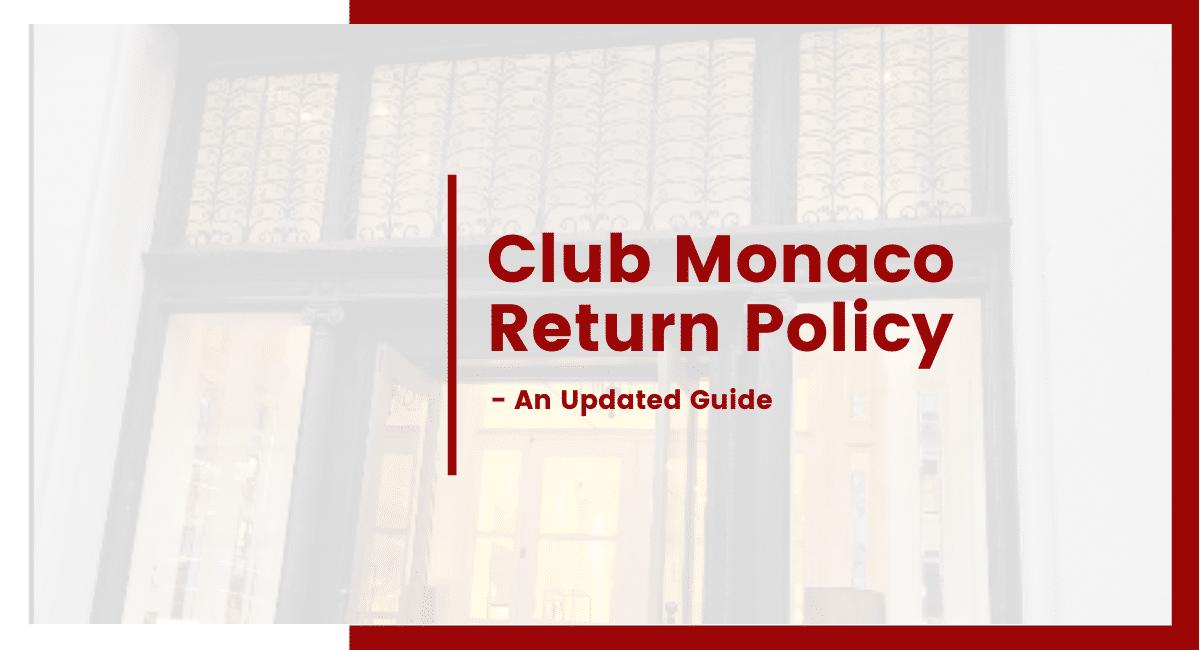 club monaco return policy
