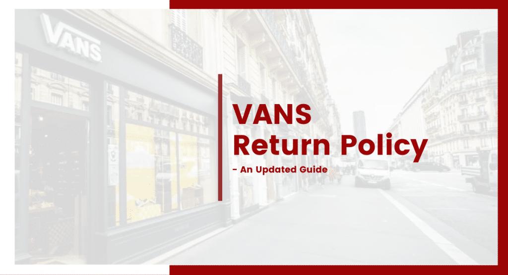 VANS return policy