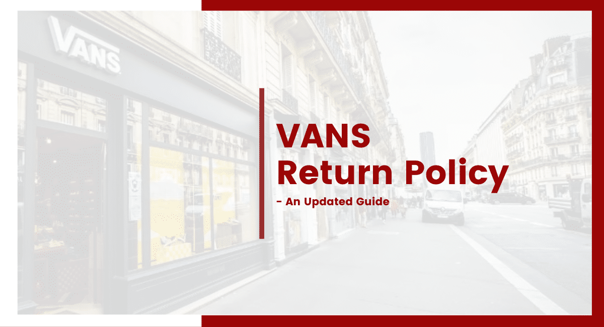 VANS return policy
