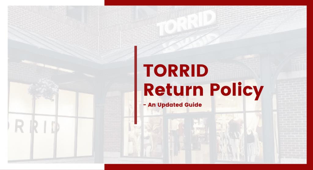 torrid return policy