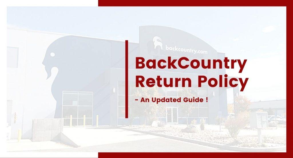 BackCountry Return Policy
