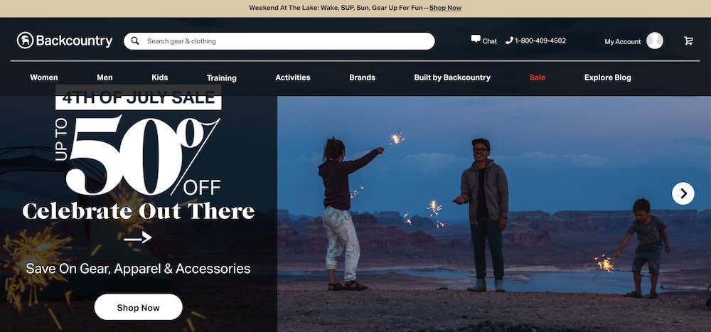 backcountry website